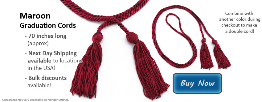 Maroon Graduation Cord Picture