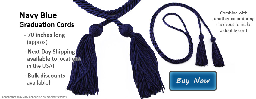 Navy Blue Graduation Cord Picture
