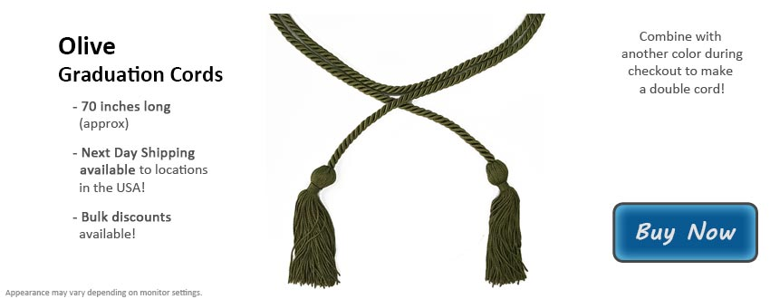 Olive Green Graduation Cord Picture