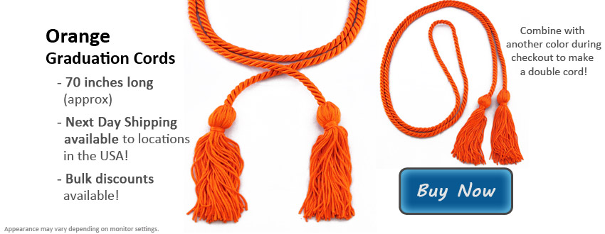 Orange Graduation Cord Picture
