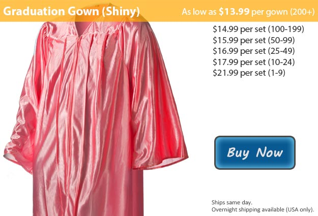 Shiny Pink Graduation Gown Picture