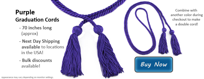 Purple Graduation Cord Picture