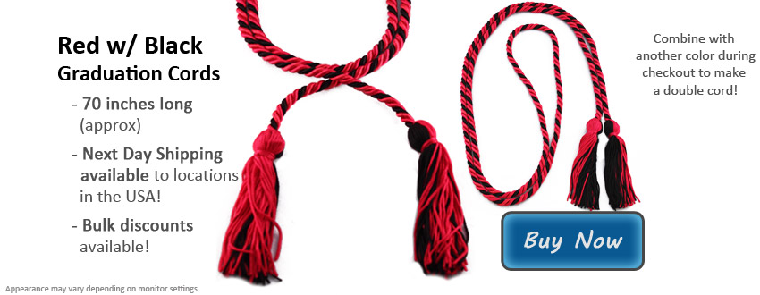 Red and Black Graduation Cord Picture