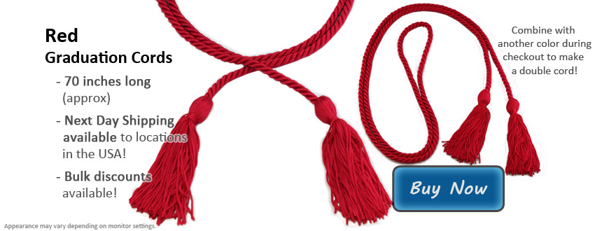 Red Graduation Cord Picture
