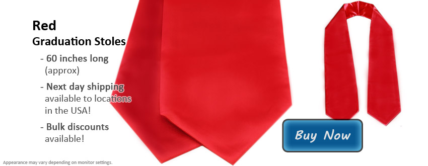 Red Graduation Stole Picture