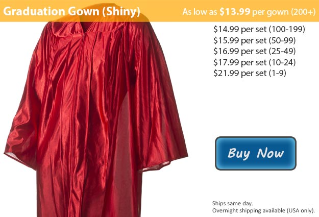 Shiny Red Graduation Gown Picture