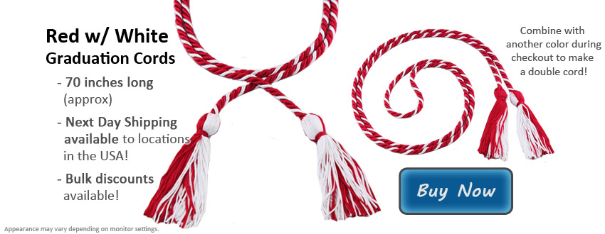 Red and White Graduation Cord Picture