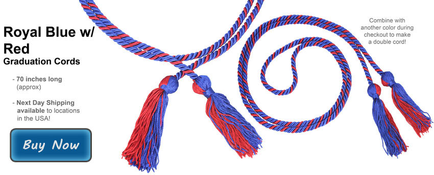Black and Red Graduation Cord Picture