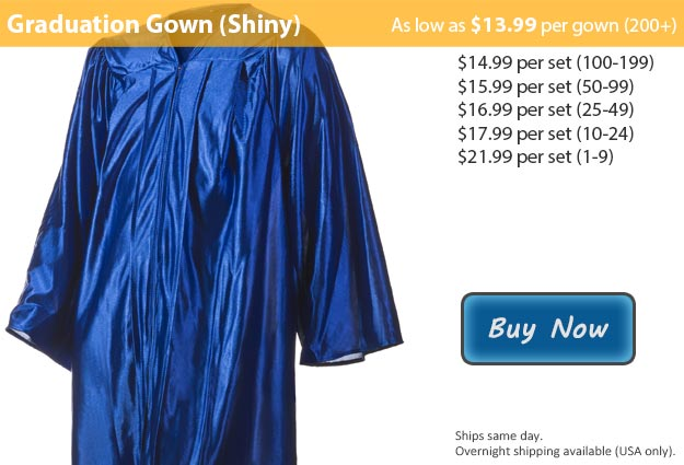 Shiny Royal Blue Graduation Gown Picture