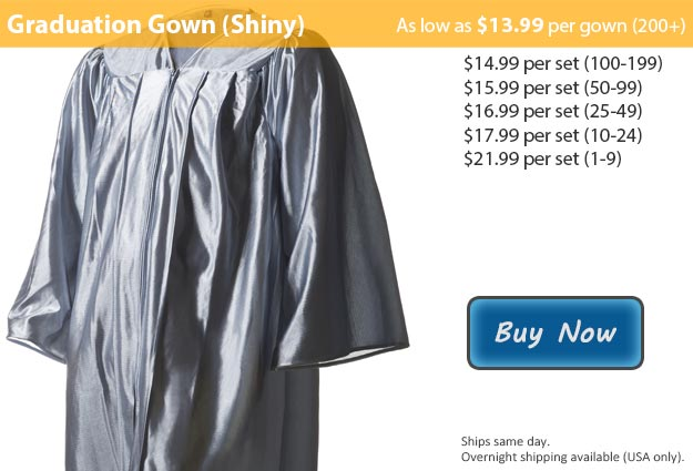 Shiny Silver Graduation Gown Picture