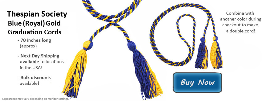 Thespian Society Graduation Honor Cords For Student Graduates