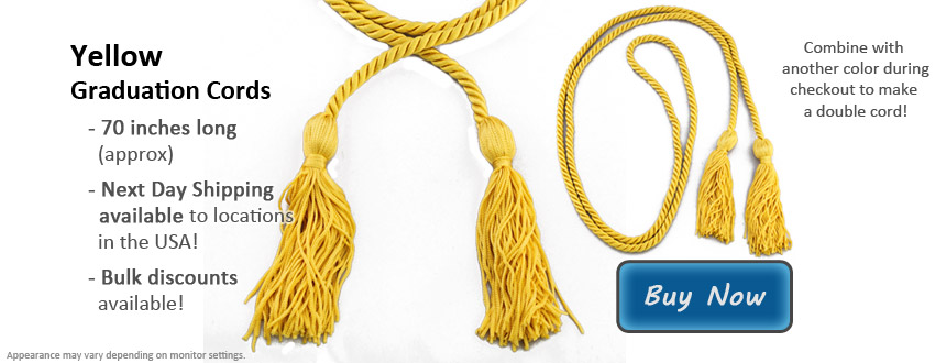 Yellow Graduation Cord Picture